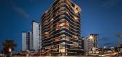 Night-view-Allegra-Apartments-Southport-Alumnium-Composite-Cladding